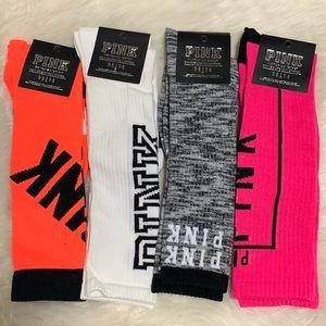 1 Free Lanyard and 4 VS Pink Knee High Socks